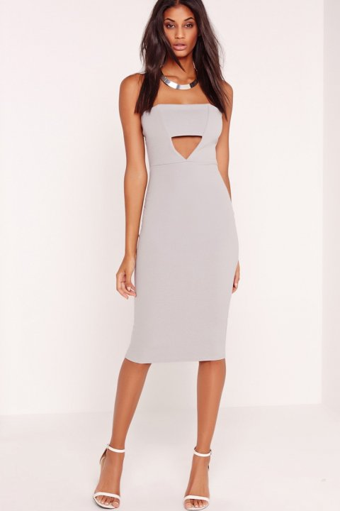 Missguided - Šaty Crepe Cut Out